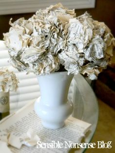 Paper hydrangea tutorial....you probably already have most of what you need to make this! Check it out!