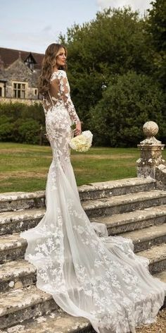 Lace Wedding Dress Gown For Wedding Party Pre Wedding Flower Girl Gown Wedding Dress Websites – yyshoop Lace Wedding Dress With Sleeves, Long Sleeve Wedding, Lace Sleeves, Long Sleeve Gown, Sleeve Dresses, Lace Longsleeve Wedding Dress, Long Sleeved Wedding Dresses, Dress Lace, Silver Bridesmaid Dresses