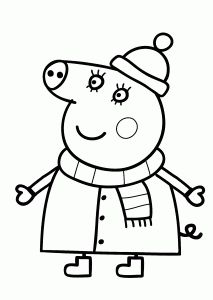 Peppa pig coloring pages for kids printable free Peppa pig