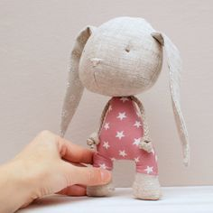 Handmade bunny soft stuffed toy by LeebeeDesign on Etsy
