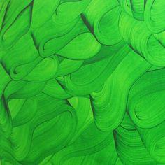 - 'Éstais, Verde' - Detail by Pablo Rey Painter Artist, Culture, Contemporary Art, Plant Leaves, Abstract Art, Artists, Detail, Artwork, Painting