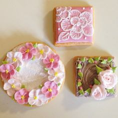 お花クッキー! #アイシングクッキー#icingcookies #花#flower#ブラッシュエンブロイダリー #練習