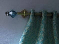 Tutorial: Curtain rods with interchangeable finials