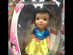 Cinderela Cinderella Ariel Branca de Neve Aurora Baby Boneca Disney Prin...