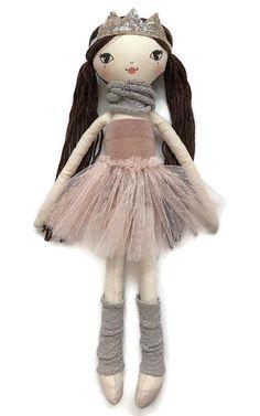 Small Lola Doll (45cm) - Pink Princess Fabric Doll Pattern, Felt Doll Patterns, Doll Dress Patterns, Fabric Dolls, Girl Dolls, Baby Dolls, Doll Wardrobe, Cat Doll, Sewing Dolls