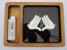 TOOLS FOR 420 || EPICOSMIC || Roca Weed Rolling Tray by MyRollingTray (Etsy.com) Stoner Style, Stoner Room, Weed Bong, Stoner Gifts, Edible Oil, Handmade Cosmetics, Mary J, High Times, Smoke Weed