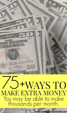 There are many ways to make extra money, whether you have just one hour each week or 40. Here are over 75 different ways to make extra money. Learning how to make extra money has never been easier!