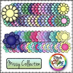 MISSY COLLECTION: BUILD A FLOWER GARDEN OR BOUQUET - 177 IMAGES! - TeachersPayTeachers.com