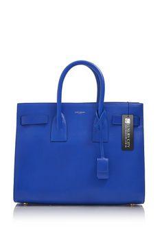 07c6f376f9e7 -Yves Saint Laurent- Paris Classic Sac De Jour Bag Cobalt Blue  YSL   Handbags