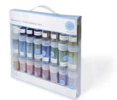 Martha Stewart Crafts Essential Colors Glitter Set, 24-Pack in Essential or Rich Tones -  My favorite glitter. Finely milled, incredibly sparkly, and a fantastic array of colors. Definitely a coupon product though as it is pricey.