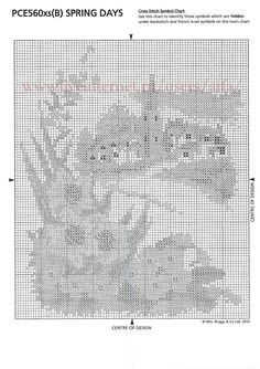 spring   4 Cross Stitch Landscape, Passion, Spring, Free, Needlepoint, Punto De Cruz, Dots, Calendar, Landscapes