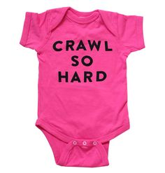 Hot Pink Crawl So Hard Baby Onesie Hip Hop by TheWittleCo on Etsy