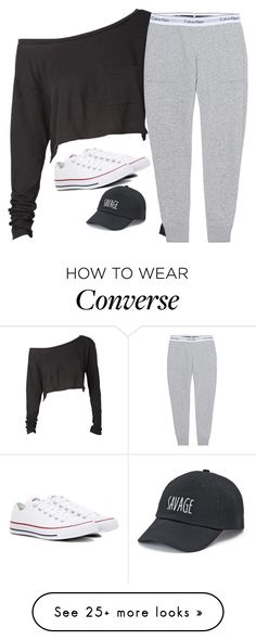 """Untitled #3241"" by laurenatria11 on Polyvore featuring Calvin Klein Jeans, Converse and SO"