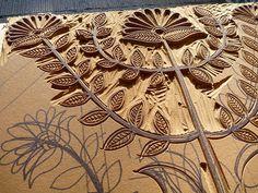 lino block in process (I love carving linoleum blocks) Stamp Printing, Printing On Fabric, Printing Press, Linocut Prints, Art Prints, Block Prints, Lino Art, Linoleum Block Printing, Stamp Carving