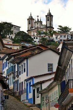 Cidade histórica de Ouro Preto, estado de Minas Gerais, Brasil.