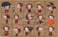 Estar, ser, tener... (Ilustración de Geneviève Després. Las cuatro estaciones -otoño-).
