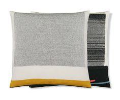 Untitled (anthracite on white) Cushion - Orange or Red - BijzonderMOOI* Dutch design online