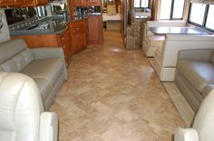 Luxury vinyl roman tile