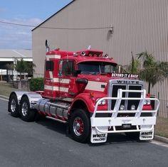 WHITE. ROAD-BOSS, Prime-Mover. Big Rig Trucks, Semi Trucks, Western Star Trucks, White Truck, Road Train, Peterbilt, Firefighter, Old School, Boss