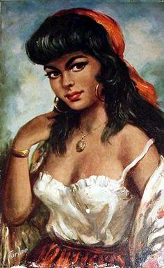 ~♥~,dit zigeunermeisje of het jongetje met de traan hing bij veel gezinnen in huis, mijn moeder hield het bij Sisi op Corfu met de wit/blauwe stipjes jurk op haar slaapkamer