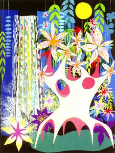 mary blair small world concept painting