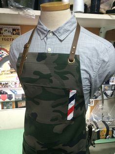 Custom made barber apron #barber #apron #camo #sartorandvillain