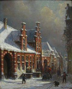 Vertin P.G. - Straatje in de winter
