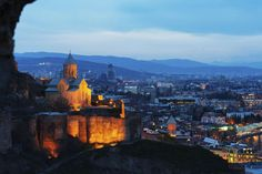St. Nicholas Church sits atop Narikala Fortress in Tbilisi, Georgia.. Where to Go in 2018 - Bloomberg