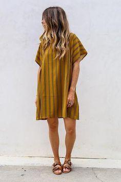 Caramel Shift Dress