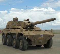 Rooikat AFV sporting its autoloader remote turret and LEDS active protection system Army Vehicles, Armored Vehicles, South African Air Force, Army Day, Armored Truck, Tank Armor, Armored Fighting Vehicle, World Of Tanks, Battle Tank