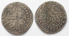 1708 Brandenburg-Bayreuth Germany BRANDENBURG-BAYREUTH Kreuzer 1708 IAP CHRISTIAN ERNST silver VF # 89396 VF
