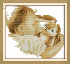 Baby doll Counted Cross Stitch 11CT Printed 14CT DMC Cross Stitch Set DIY Chinese Cotton Cross-stitch Kit Embroidery Needlework