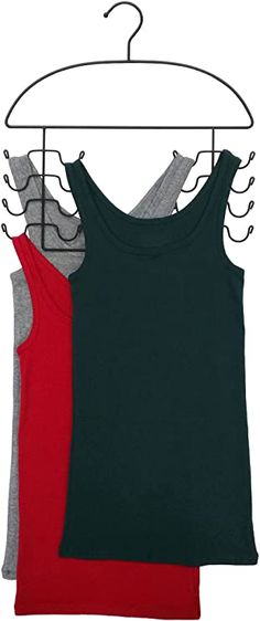 Axis International Marketing Tank Top Hanger, Black, large, Set of 2 - 8200: Amazon.ca: Home & Kitchen Scarf Hanger, Mug Warmer, Pant Hangers, Out Of Shape, Faux Leather Leggings, Spanx, Urban Outfitters, Basic Tank Top, Athletic Tank Tops