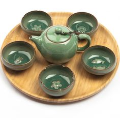 exclusive celadon tea-set for gong fu cha, 7 pieces