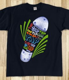 """Bottom of tap shoe created out of repeated word """"tap"""" set inside rhythmic green lines. (this version works best with the white underbase) Printed on Skreened T-Shirt All About Dance, Dance It Out, Dance Recital, Dance Moms, Tap Dance Quotes, Dance Teacher Gifts, Sweater Shirt, T Shirt, Dance Shirts"""