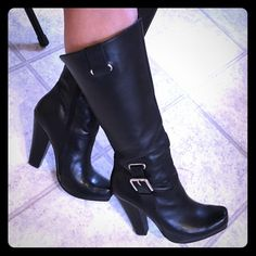 """Jessica Simpson Hosana boots Size 8B, 5"""" heel. Boots zip on the inner side. Good condition, except for a few scratches on the heels. *FOR SALE ONLY* Jessica Simpson Shoes Heeled Boots"""