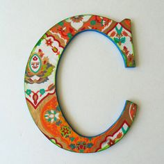 Wall Letter Wall letter C Nursery Wall letter C. by DulcetWhimsy