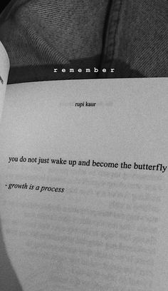 Rupi Kaur, Tattoo Quotes, Butterfly, Cards Against Humanity, Butterflies, Literary Tattoos, Quote Tattoos, Inspiration Tattoos, Caterpillar