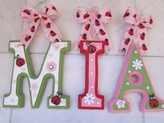 CUSTOM Hanging Letters for Baby Boy or Baby Girl Nursery or Bedroom Designed by a Professional Artist