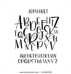 Collection of hand drawn letters. Hand drawn vector al… Collection of hand drawn letters. Isolated on white background. Hand Drawn Lettering, Creative Lettering, Lettering Styles, Brush Lettering, Lettering Design, Brush Script, Font Styles, Caligraphy Alphabet, Hand Lettering Alphabet