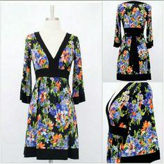 V-Neck Kimono Style Dress Purple