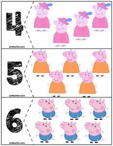 Free Peppa Pig Quantity Cards