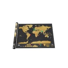 Moonar Deluxe Travel Scratch Off Map Personalized World Map Poster Luckies Personal Log