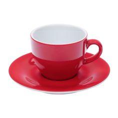 Espressokopp och Fat Pronto Röd 2 pack 8 cl - Dryckesglas.se