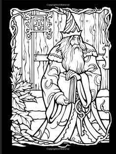 Wondrous Wizards Dover Coloring Books Marty Noble 9780486456669 Amazon