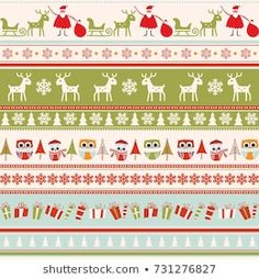 Scandinavian Seamless Pattern Stock Vector (Royalty Free) 90694426 Christmas Background, Pattern Paper, Color Patterns, Vintage Christmas, Scandinavian, Royalty Free Stock Photos, Greeting Cards, Illustration, Wrapping