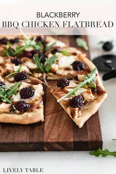 Change up pizza night and use up leftover chicken with this sweet and savory blackberry BBQ chicken flatbread! Make it on the grill or bake it in a hot oven for a quick and delicious summer dinner or appetizer in under 30 minutes. #healthypizzarecipes #blackberryrecipes #berryseason #summerrecipes #flatbreadpizza #grilledpizzarecipe #bbqpizza #healthygrilledrecipes #sweetandsavory #blackberrypizza #chickenflatbread #appetizers #pizzanight #30minutemeals