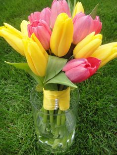Fresh Tulip Bouquet         Wedding Bouquets       by donnahubbard, $300.00