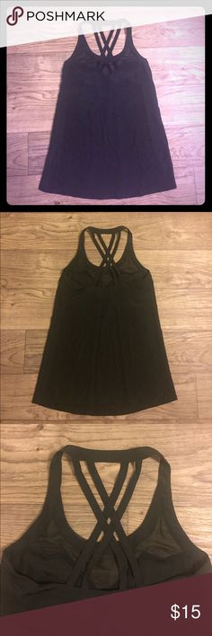 Kardashian Kollection tunic Black polyester tunic with mesh and strappy details Kardashian Kollection Tops Tunics