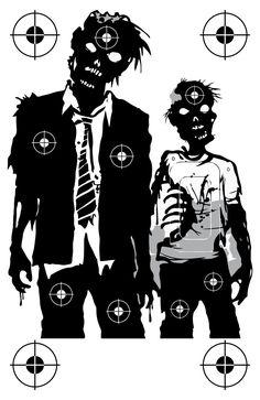 Zombie Family Shooting Target at PhotosAndFun.com                                                                                                                                                                                 More